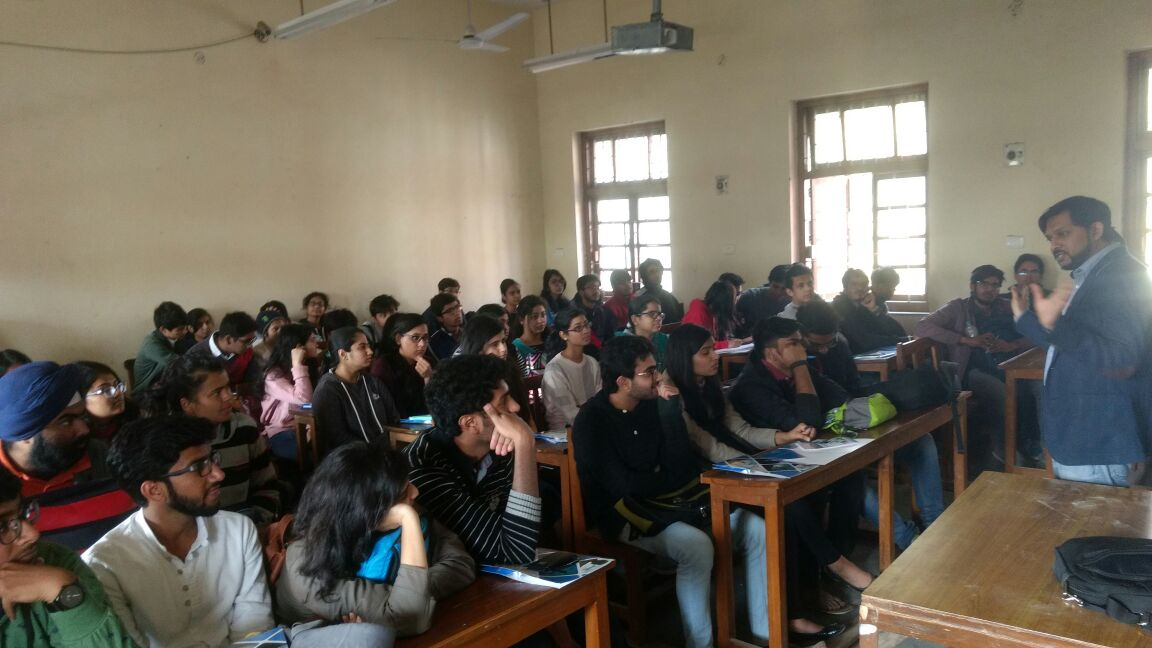 Seminar on 'MBA as a Career Option' at Hansraj College