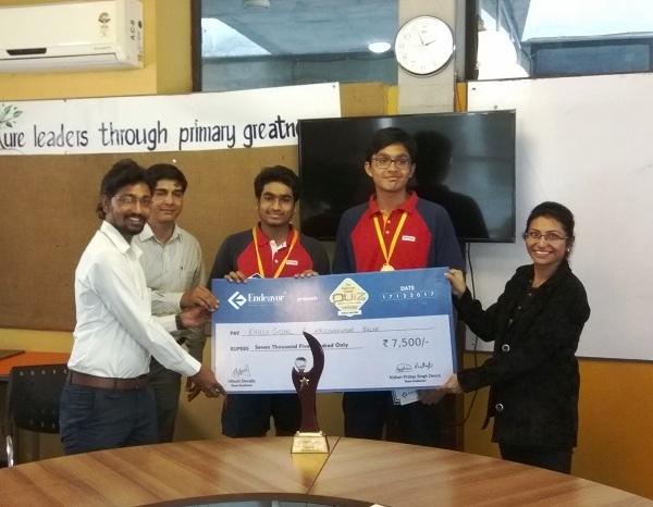 Winners of The Endeavor School Quiz 1.0 Surat
