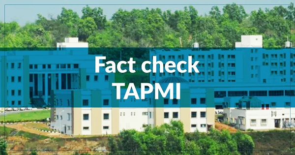 TAPMI Fact Check