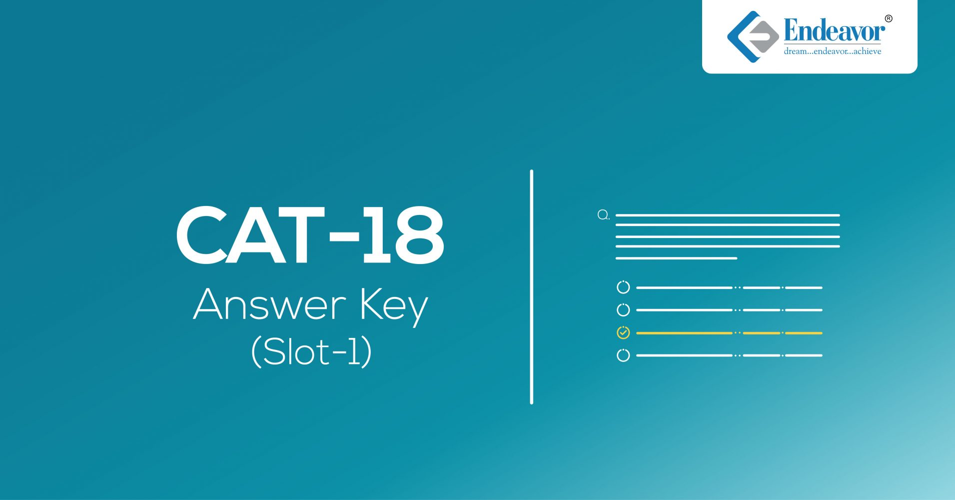 CAT 2018 Answer Key | Slot 1