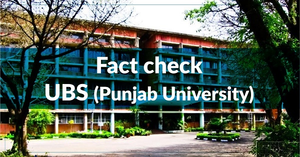 Fact Check – University Business School, Punjab University