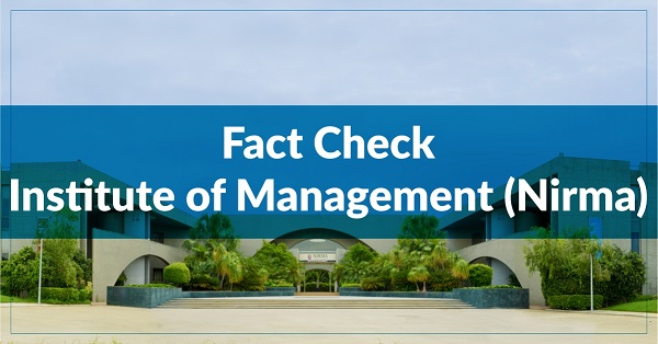 Fact Check – Institute of Management, Nirma University