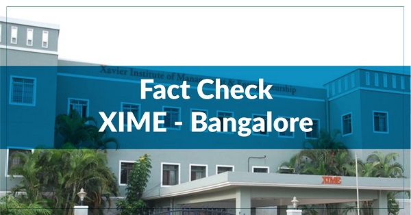 Fact Check – Xavier Institute of Management and Entrepreneurship