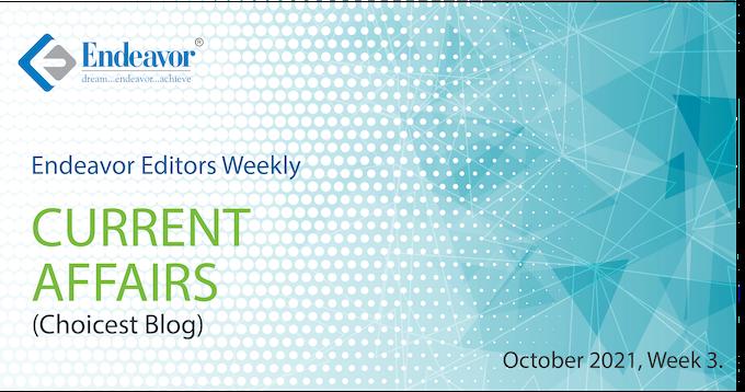 Endeavor Careers Weekly Current Affairs October Week 03