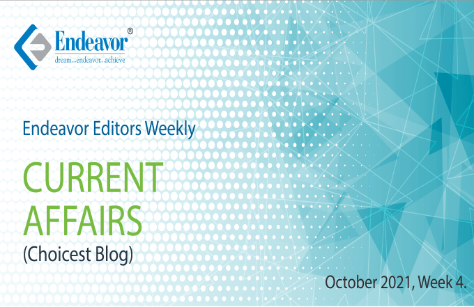 Current Affairs October 2021 – Week 4